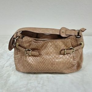 Jessica Simpson Tan Leather Shoulder Bag
